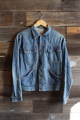 '50s Bar C Pleated Selvedge Denim Jacket | Men's M