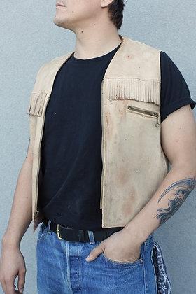 '60s Buckskin Fringe Zip Vest