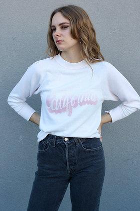 Vintage Pastel Pink 'California' Raglan Sweatshirt | Women's Medium