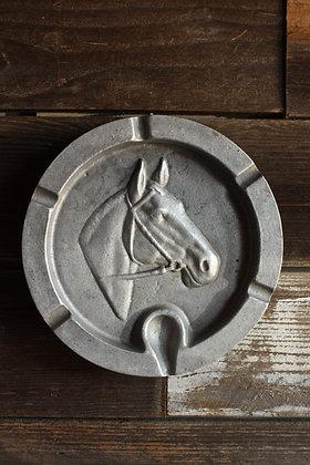 Pewter Horse Ashtray