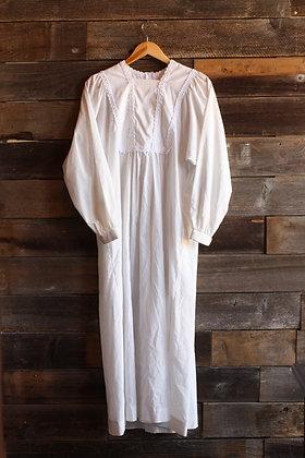 '70s White Dress - Medium