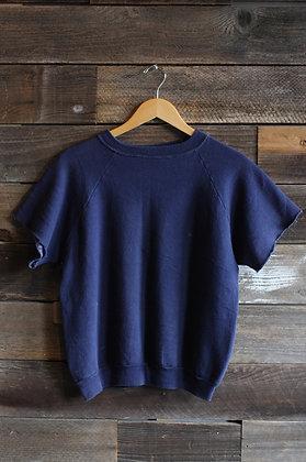 '60s FOTL Navy Cutoff Short Sleeve Sweatshirt | Men's M