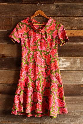 '60s Paisley Dress - M/L