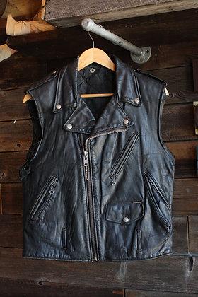 '60s Schott Leather Biker Vest | Men's S/Women's M