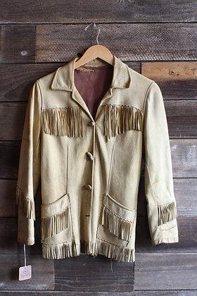 '50s/'60s Deerskin Fringe Jacket   S