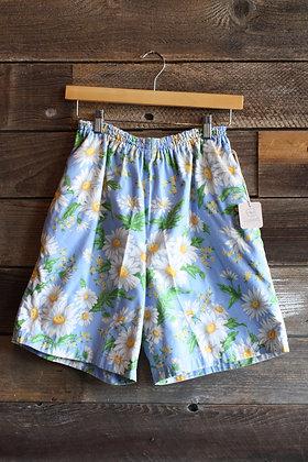 Vintage Handmade Blue Daisy Shorts   S/M