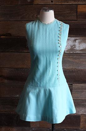'60s Baby Blue Mini Dress | S