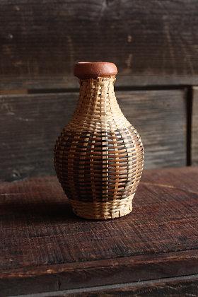 Terra Cotta Woven Straw Vase