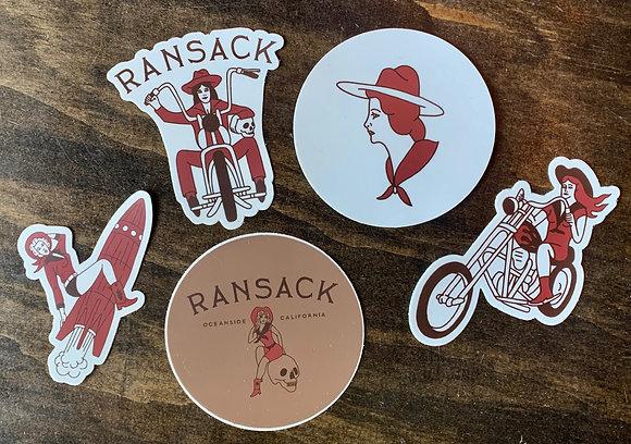 RANSACK Sticker Pack of 5