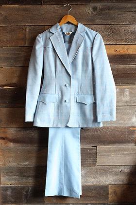 '70s Lasso 3 Piece Blue Western Suit | Women's S