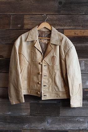 Vintage Genuine Leather Western Jacket | Men's L
