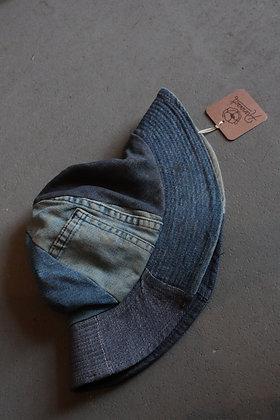 '70s Denim Patchwork Bucket Hat   S