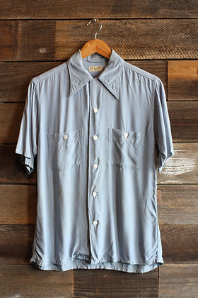 '50s Loop Collar Button Up   Men's