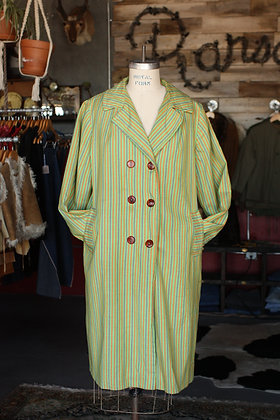 '60s Striped Trench Coat