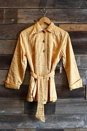 '40s Golden Quilted House Jacket | Medium