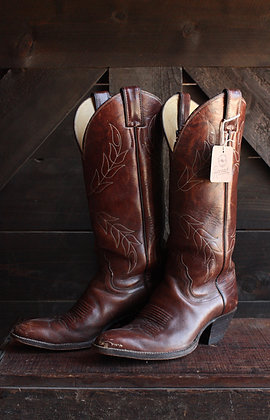 Vintage Justin Floral Stitch Cowgirl Boots - 6.5