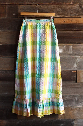 '70s Pastel Maxi Skirt - Small