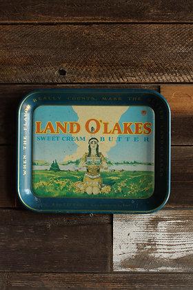 Vintage Land O' Lakes Tray