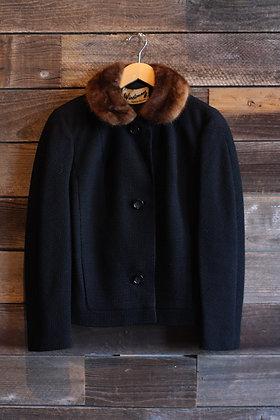 '60s Fur Collar Coat - Small/Medium