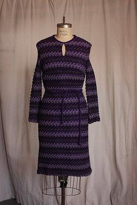 '60s George Small Purple Knit Dress - Small