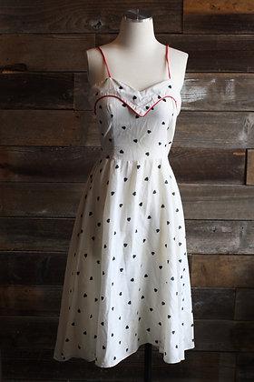'80s Polka Heart Dress   M