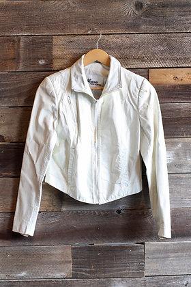 '80s White Leather Jacket   12