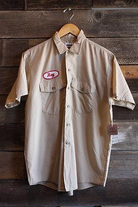 '60s Tan Mechanic's Shirt | Men's M