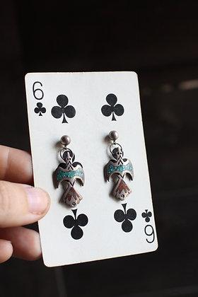 Vintage Waterbird Earrings