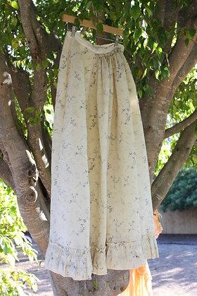 Antique Edwardian Floral Skirt   S