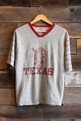 '70s Texas Armadillo Short Sleeve Sweatshirt - Men's Medium/Large