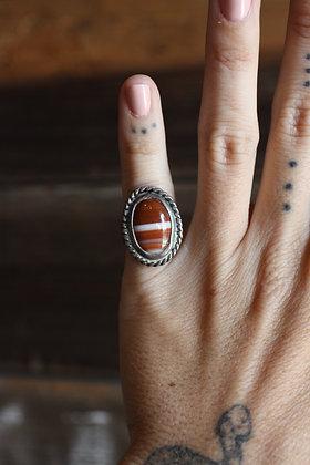 Vintage Agate Ring   4.5