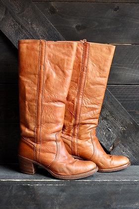 '70s Frye Chestnut Campus Boots | 8.5