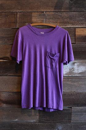 '70s FOTL Purple Single Stitch Pocket Tee   Men's Medium