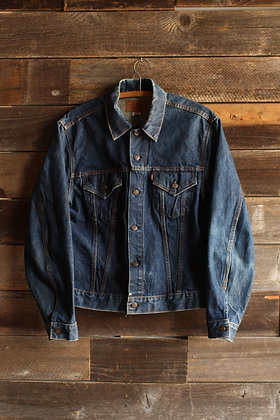 '70s Levis Big E Dark Wash Denim Jacket - Men's Large