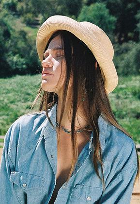 Vintage Straw Bucket Hat