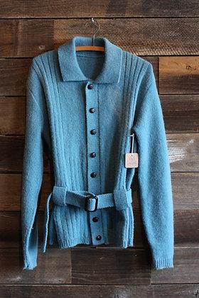 '70s Blue Belted Faded Sweater | Men's S / Women's L