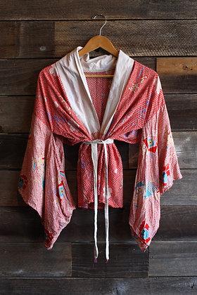 '50s Haori Hand Stitched Robe/Top | One Size