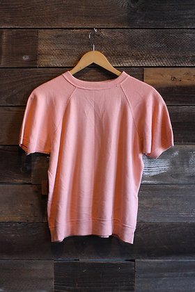 '60s/70s Peach Short Sleeve Sweatshirt - Men's Medium