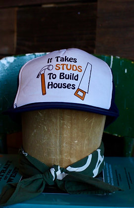 Vintage Studs Hat   One Size