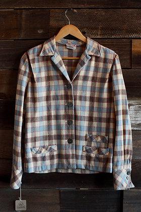 '50s Bobbie Brooks Plaid Wool Jacket   Medium