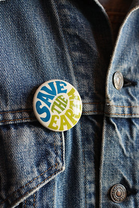 '60s Save The Earth Pinback Button