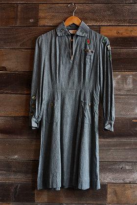 '40s Girl Scouts Dress | XS