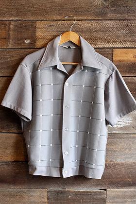 '60s Del Rio Grey Button Up | Men's L