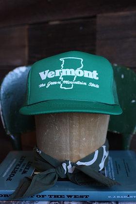 Vintage Vermont Green Hat   One Size