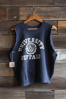 '60s University of Buffalo Cutoff Raglan Sweatshirt   Men's M/L