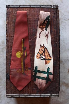 RARE '40s Hand Painted Necktie