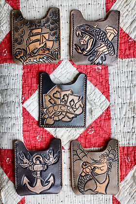 Hags & Hides Tooled Leather Card Wallet