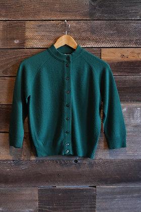 '60s Green Acrylic Cardigan - Medium