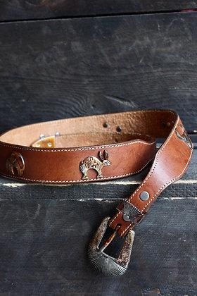 "Vintage Southwestern Animal Figure Belt | 26.5""-29.5"""