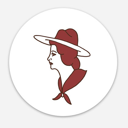 Cowgirl Sticker